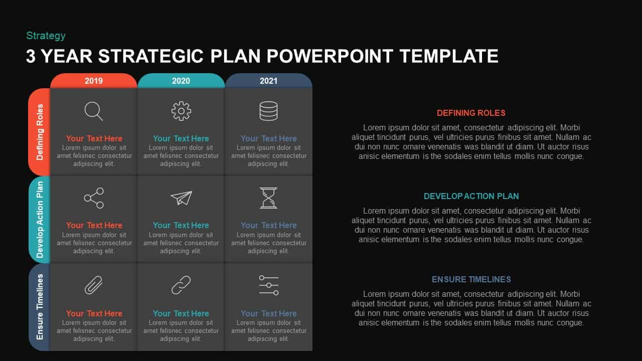 3 Year Strategic Plan PowerPoint Template & Kaynote - Slidebazaar