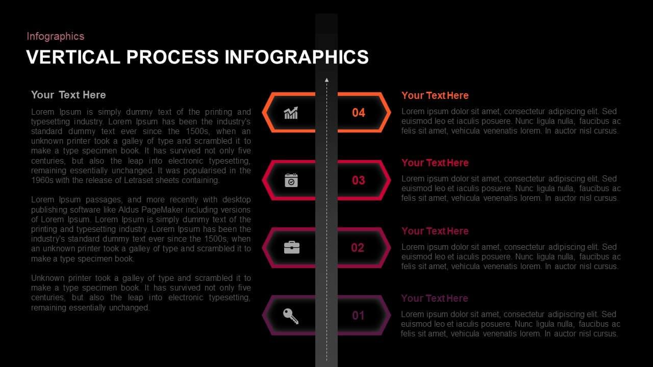 4 Step Vertical Process PowerPoint Template