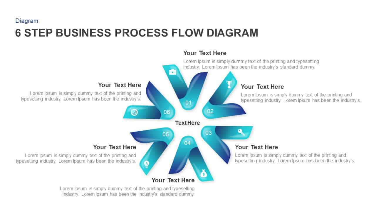 6 Step Business Process Flow Diagram Templates