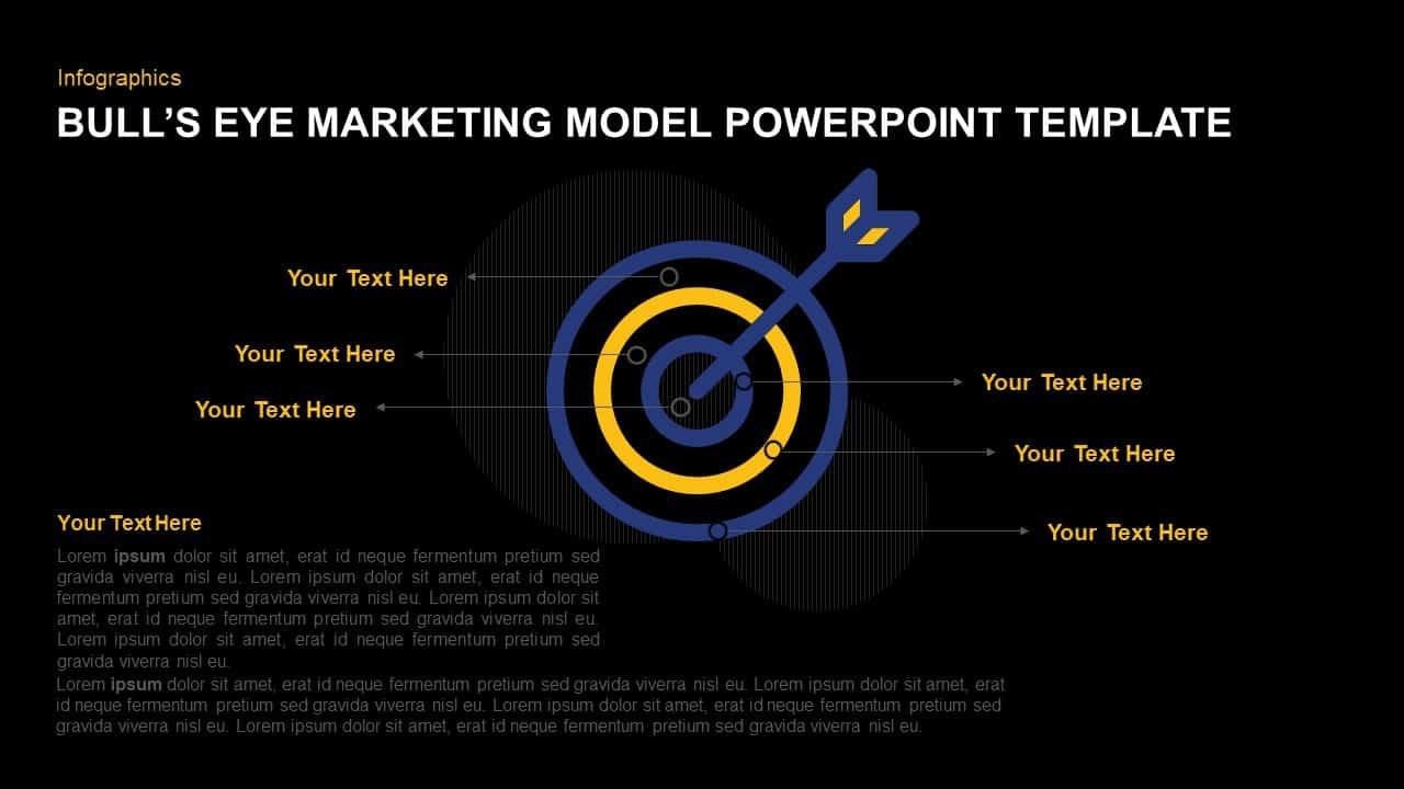 Bull's Eye Marketing Model PowerPoint Template
