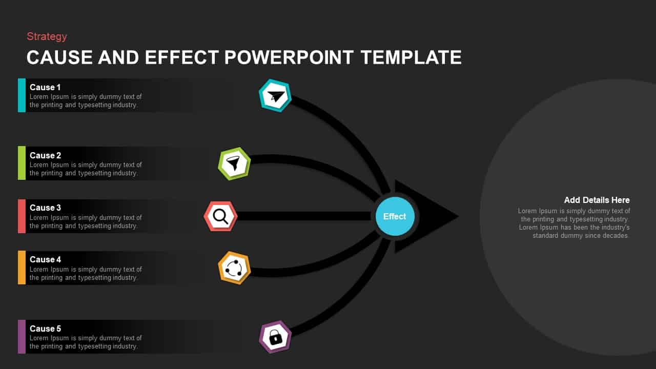 Cause and effect diagram powerpoint template
