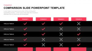 Comparison Slide Template for PowerPoint & Keynote