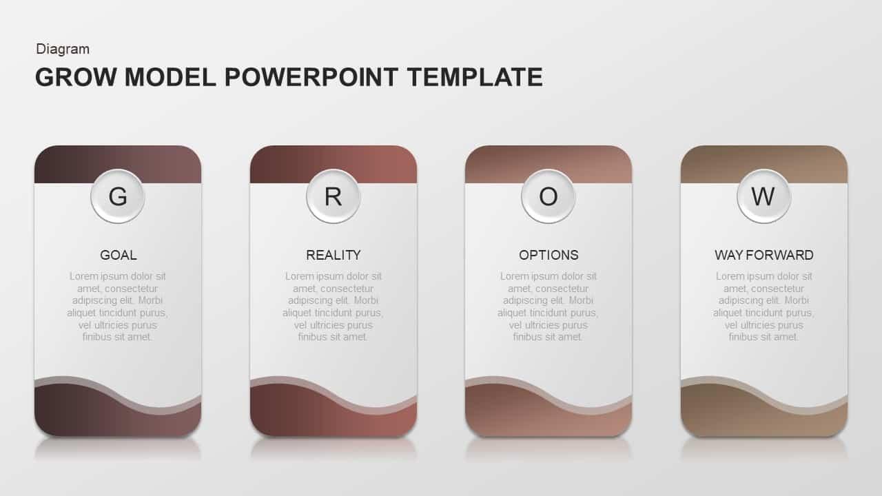 GROW Model PowerPoint Diagram