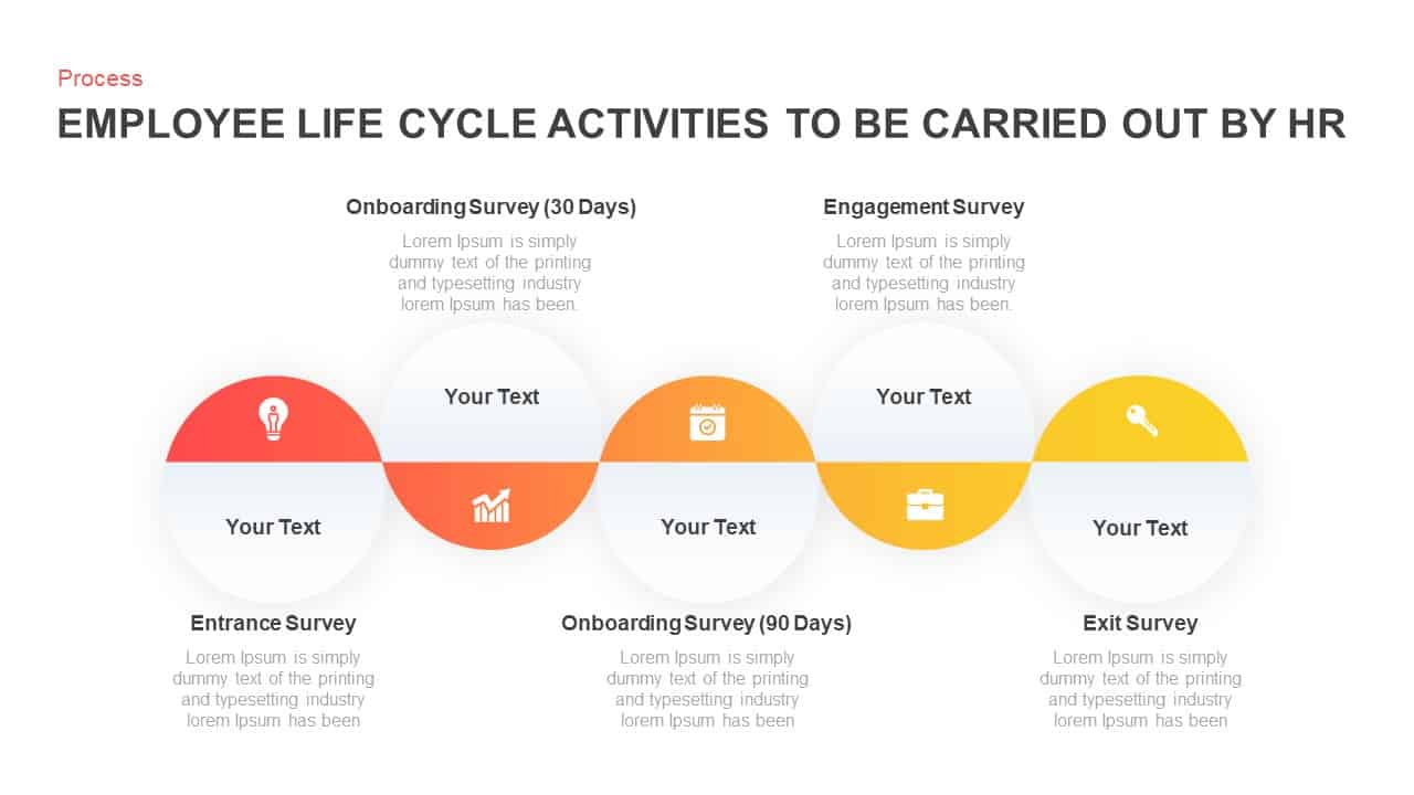 HR Activities Employee Life Cycle Template for PowerPoint