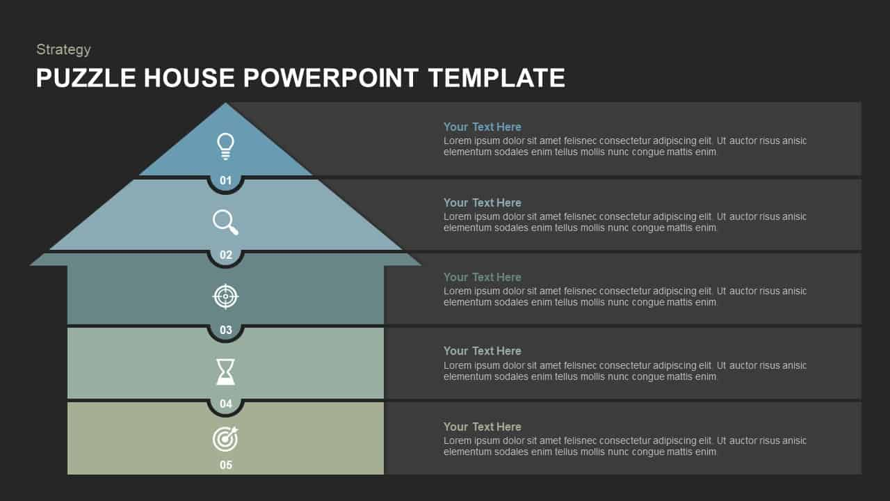 House Puzzle Template for PowerPoint