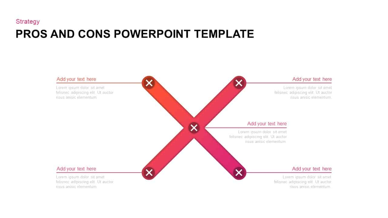 Pros and Cons PowerPoint Diagram