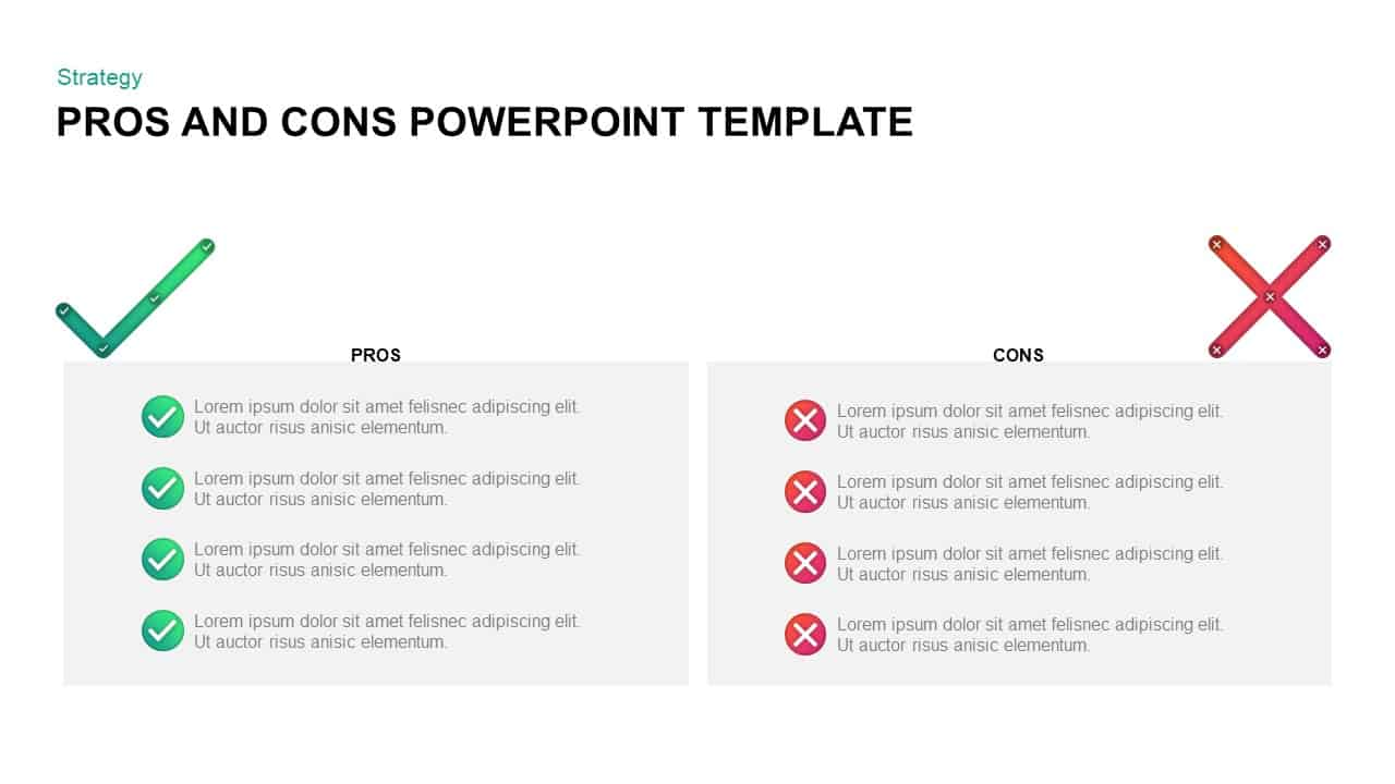 Pros and Cons PowerPoint Slide