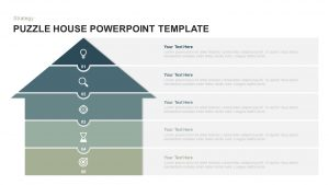House Puzzle Template for PowerPoint & Keynote