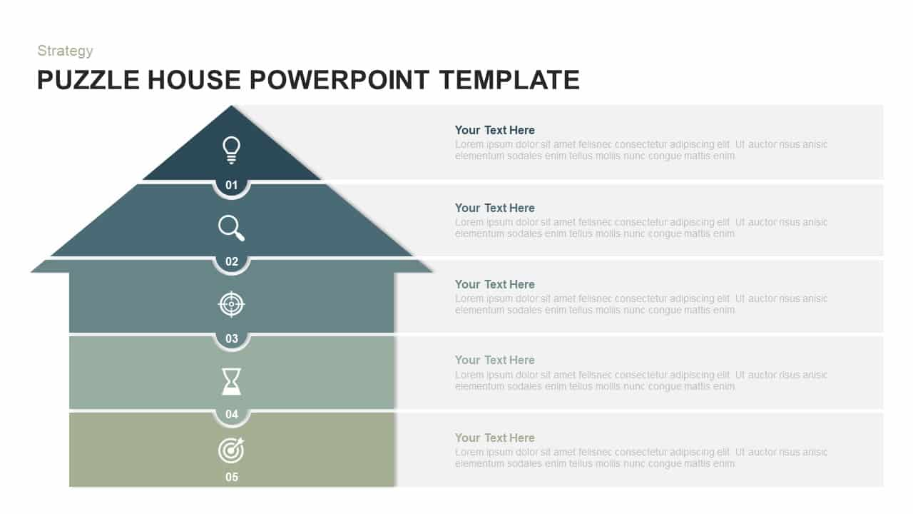 Puzzle House PowerPoint Template