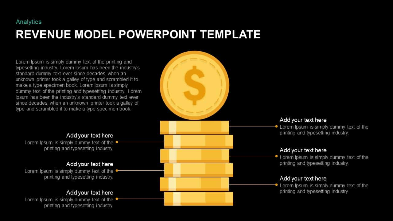 Revenue Model PowerPoint Template & Keynote Diagram