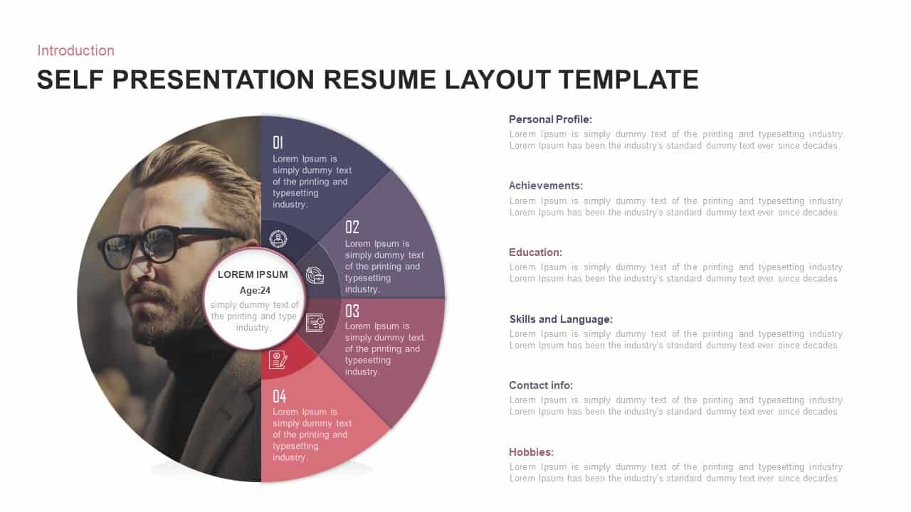 self presentation powerpoint template