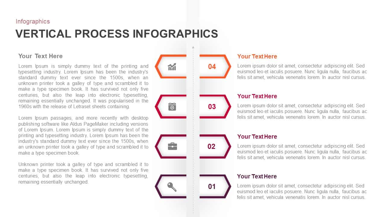 Vertical Process PowerPoint Template