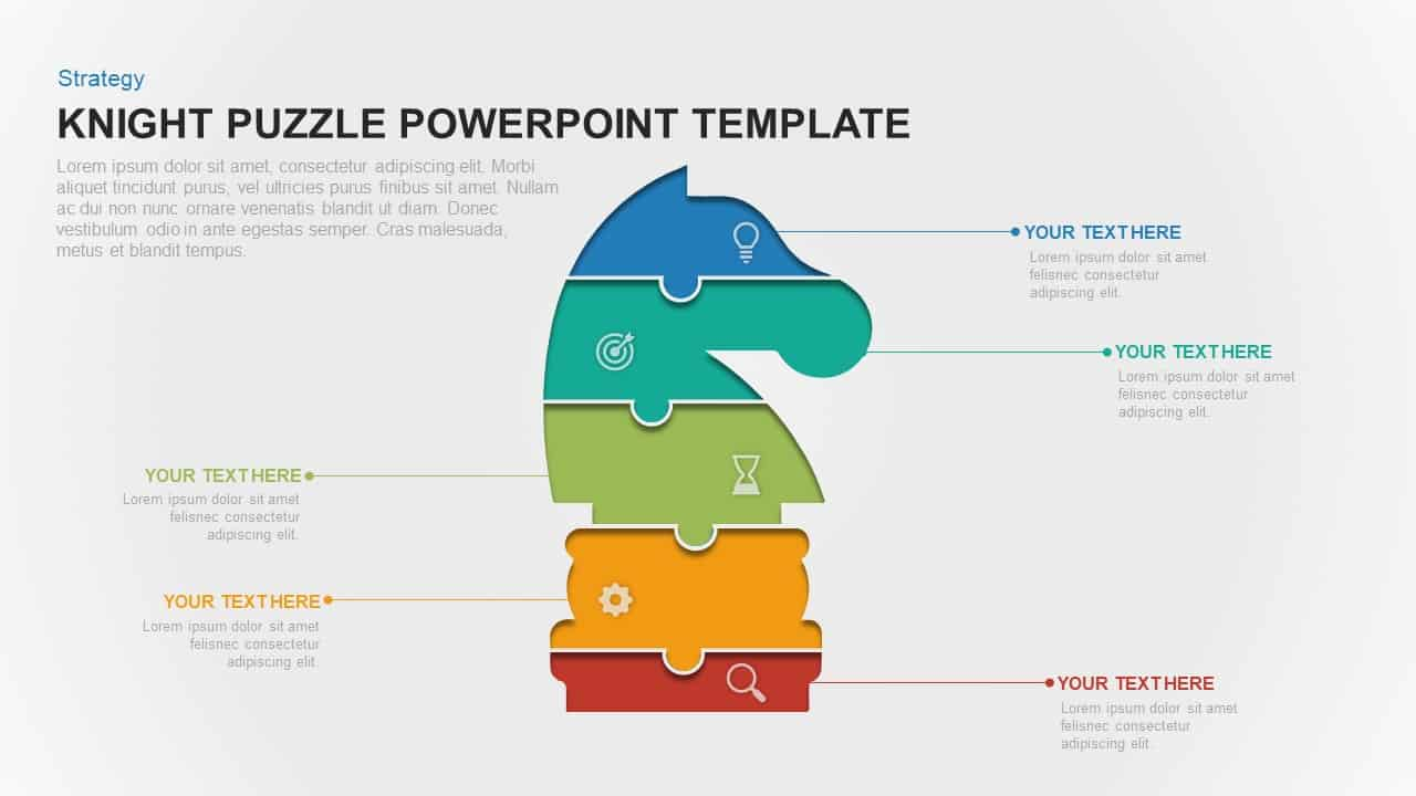 knight puzzle PowerPoint template