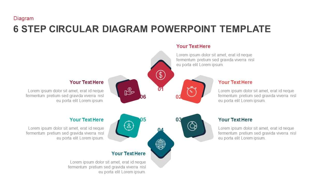 6 Step Circular Diagram PowerPoint Template