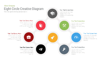 Eight Circle Creative Diagram Free Google Slides Theme