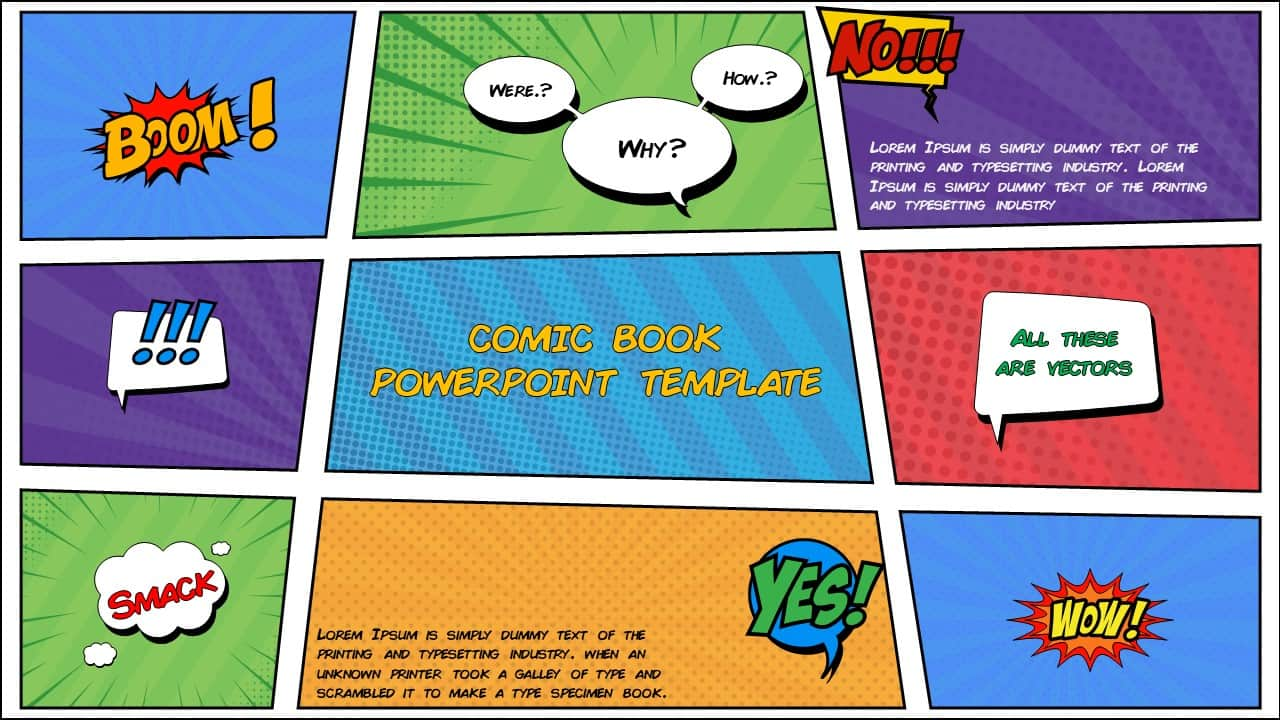 comic book PowerPoint template