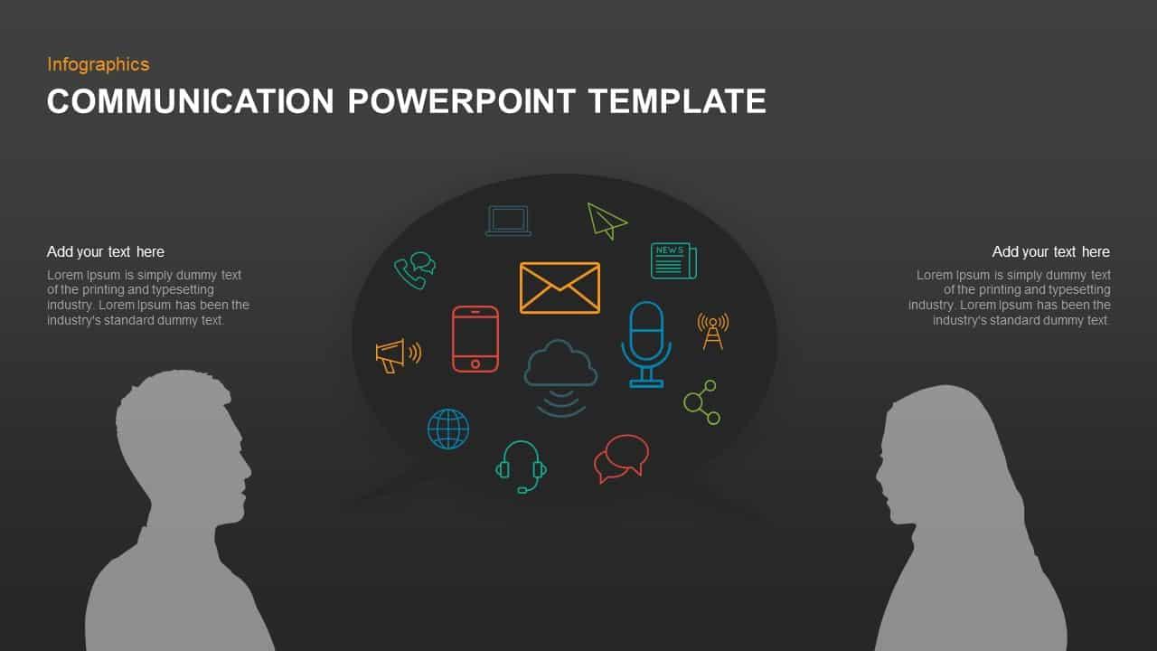 Communication PowerPoint Template & Keynote Diagram | Slidebazaar