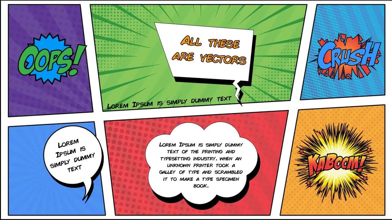 Free Comic Book PowerPoint Template for Download | Slidebazaar