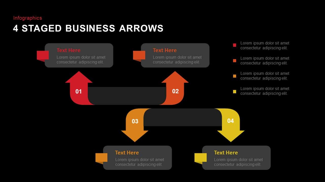 Arrows PowerPoint Template for Business Presentation