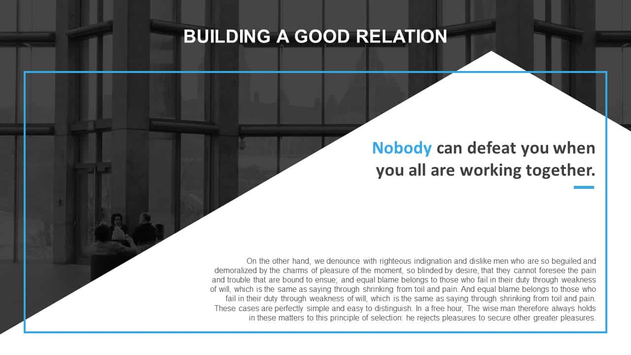 Building Good Relationship PowerPoint Template