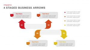 4 Stages Business Presentation Arrows PowerPoint Template