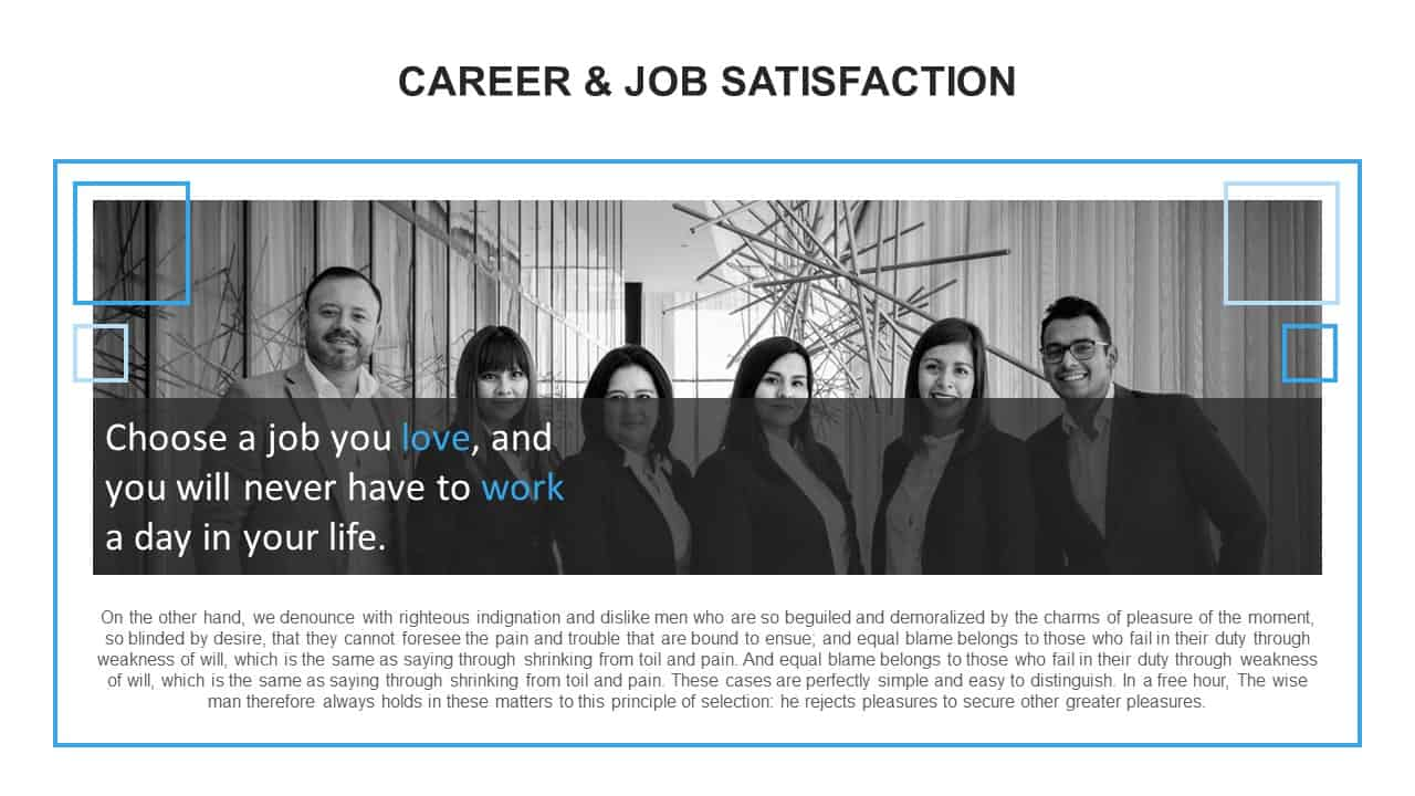 Career Job Satisfaction PowerPoint Template