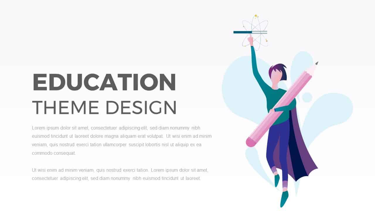 Education PowerPoint Template Theme Design