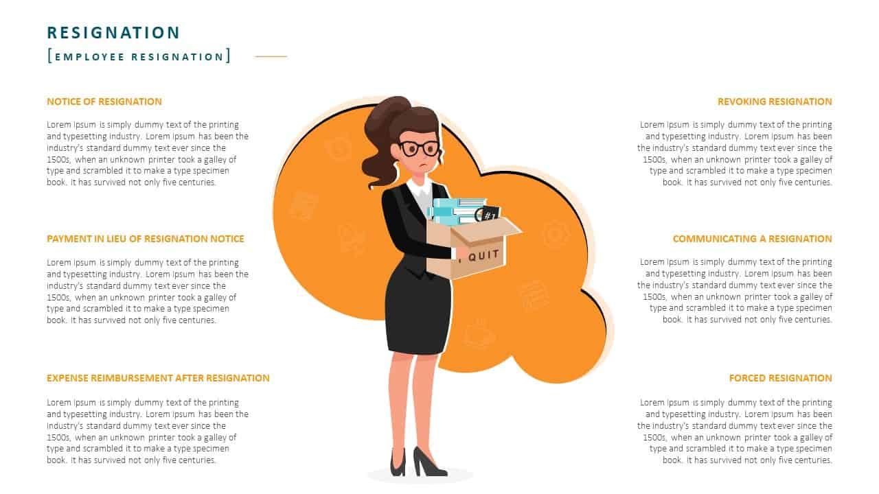 Employee Handbook PowerPoint Template Slide 20 Employee Resignation
