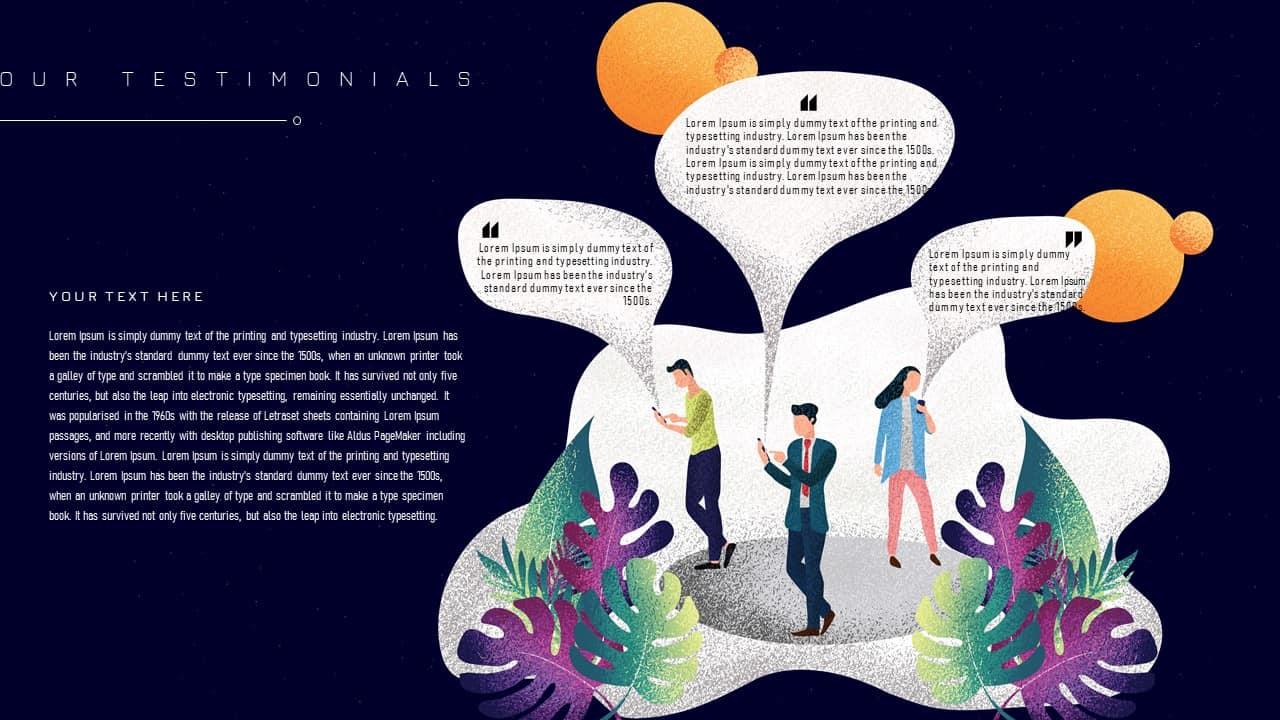 Free Business PowerPoint Template Testimonials