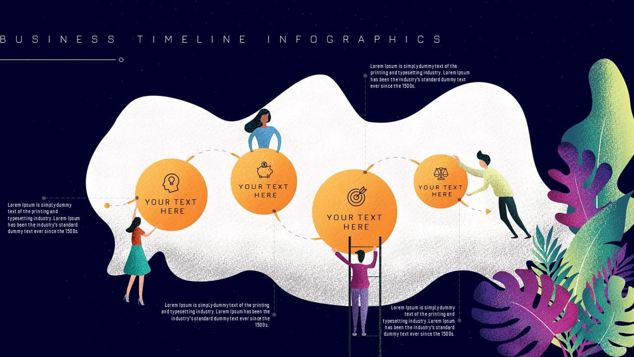 Free Business Timeline Infographics PowerPoint Template