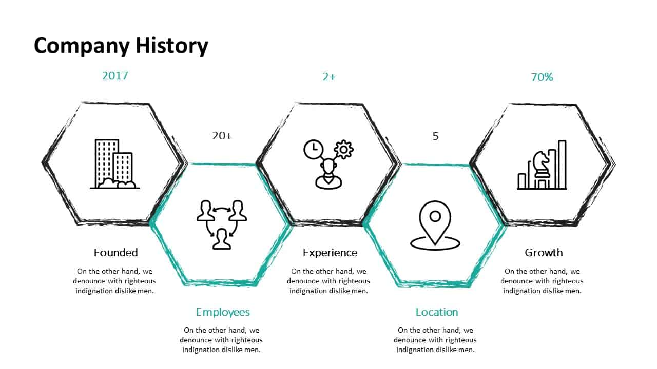 Investment Pitch Deck Company History Template