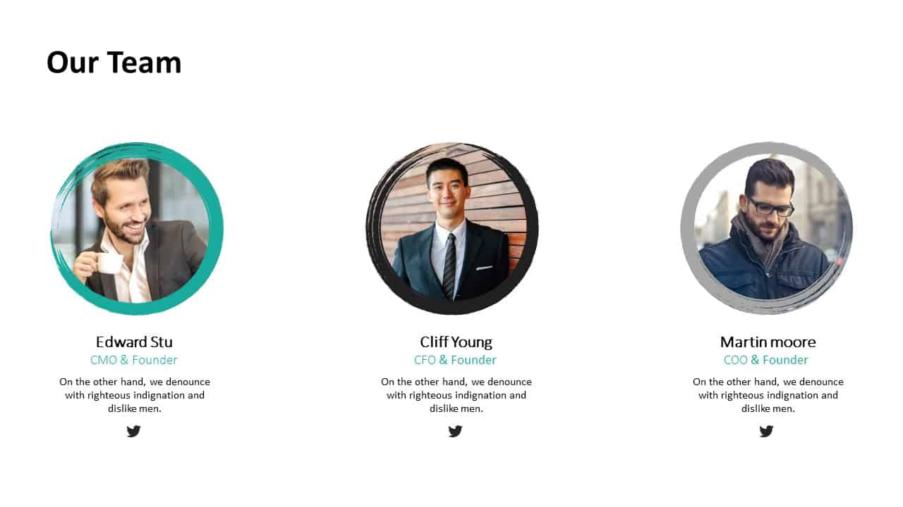 Investment Pitch Deck Team Template