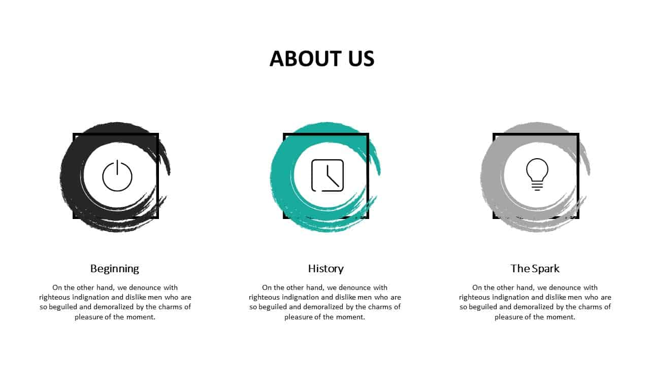 Investment Pitch Deck About Us Template