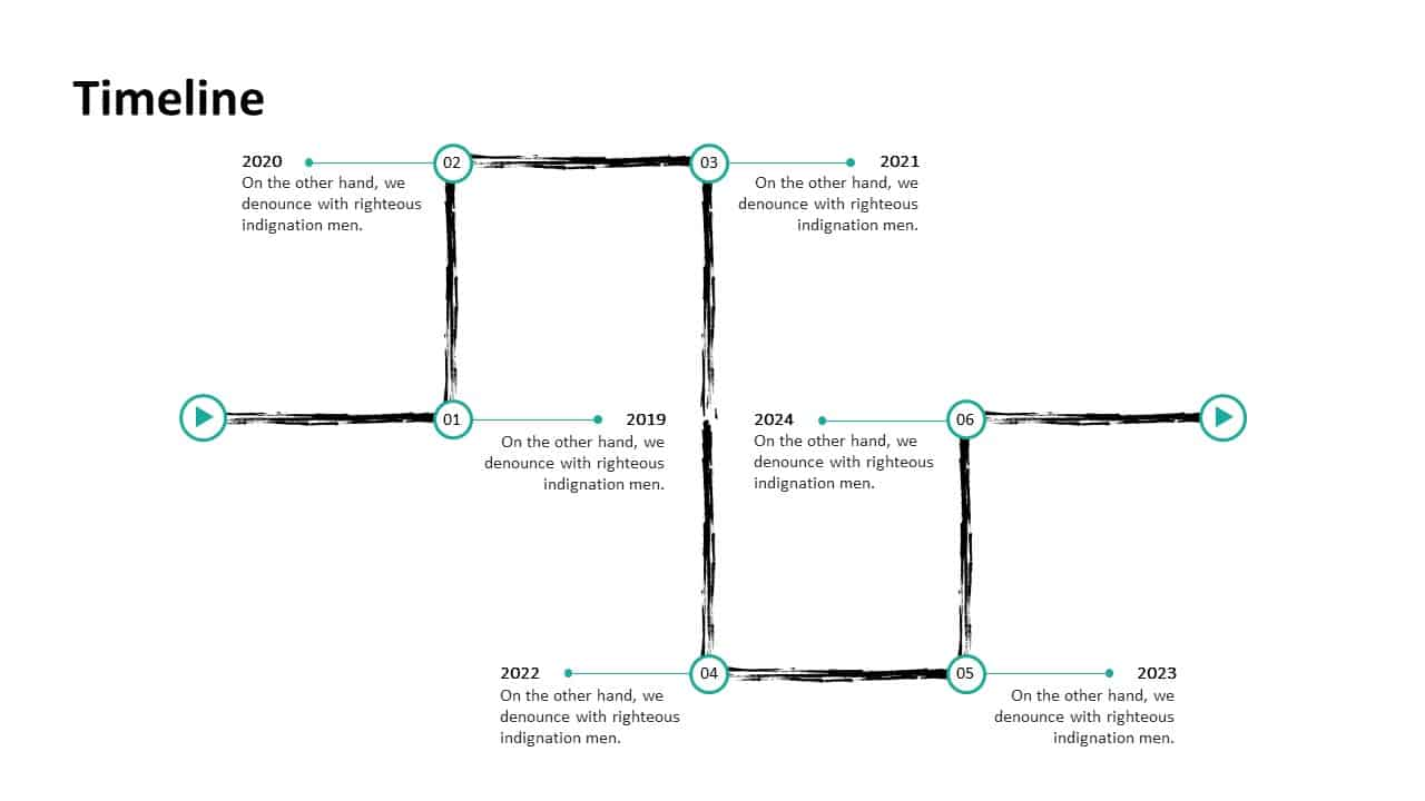 Investment Pitch Deck Timeline Template