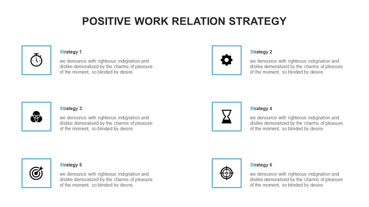 Positive Work Relation Strategy PowerPoint Template