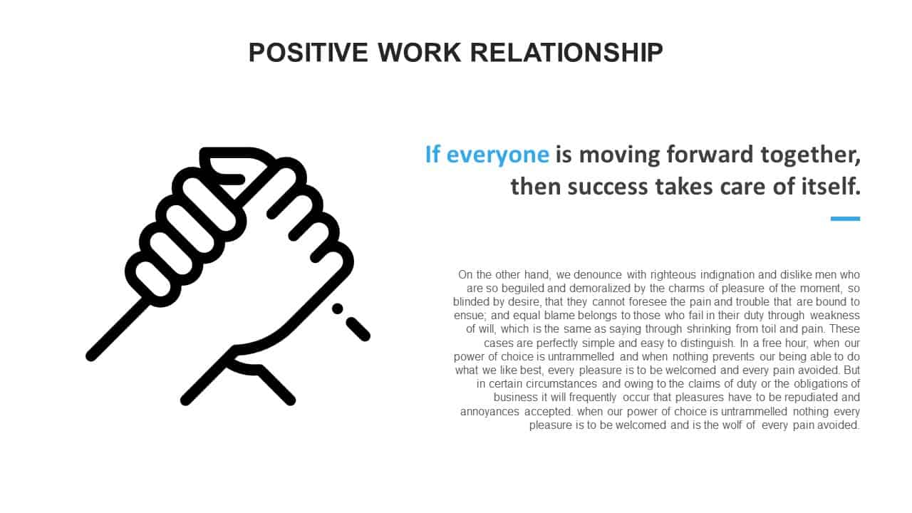 Positive Work Relationship PowerPoint Template
