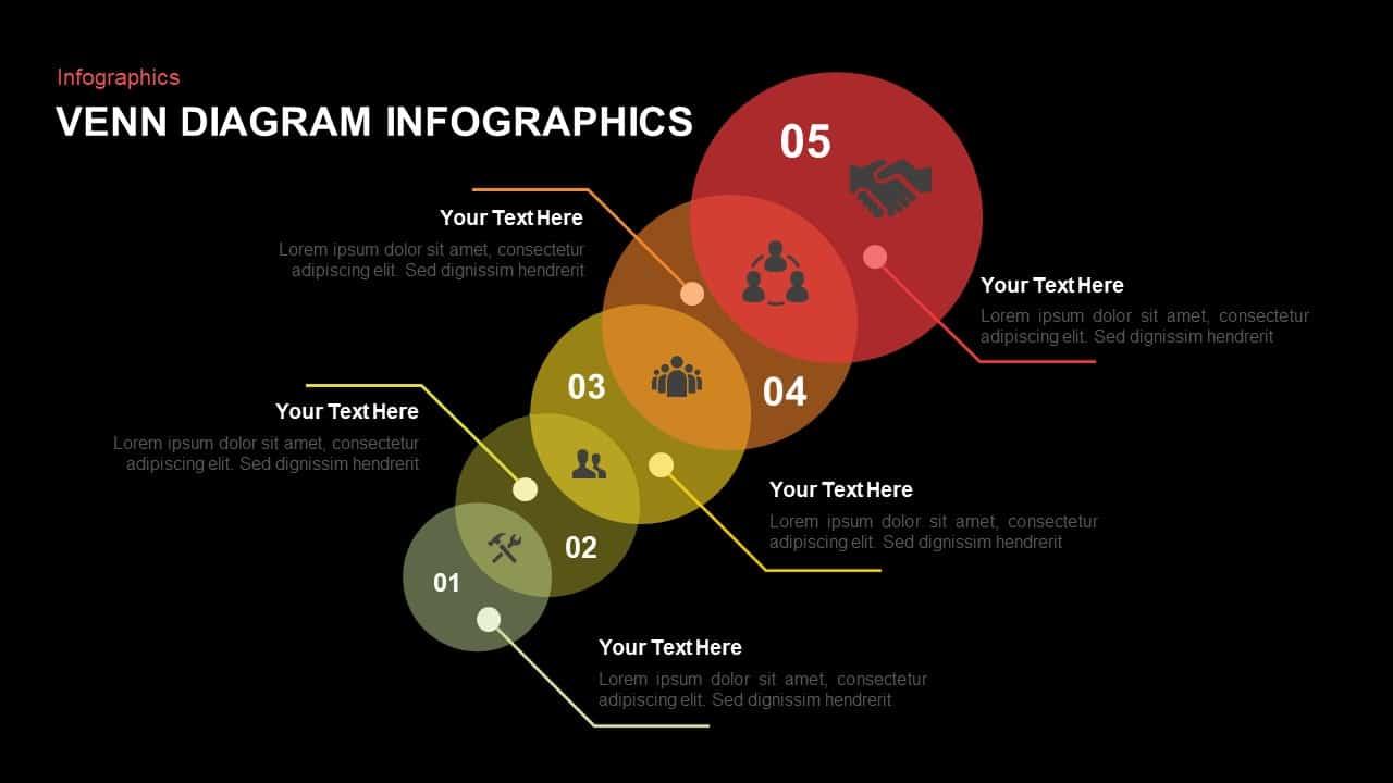 circle Infographic venn diagram PowerPoint template