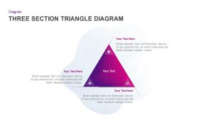 3 Section Triangle Diagram for PowerPoint Presentation