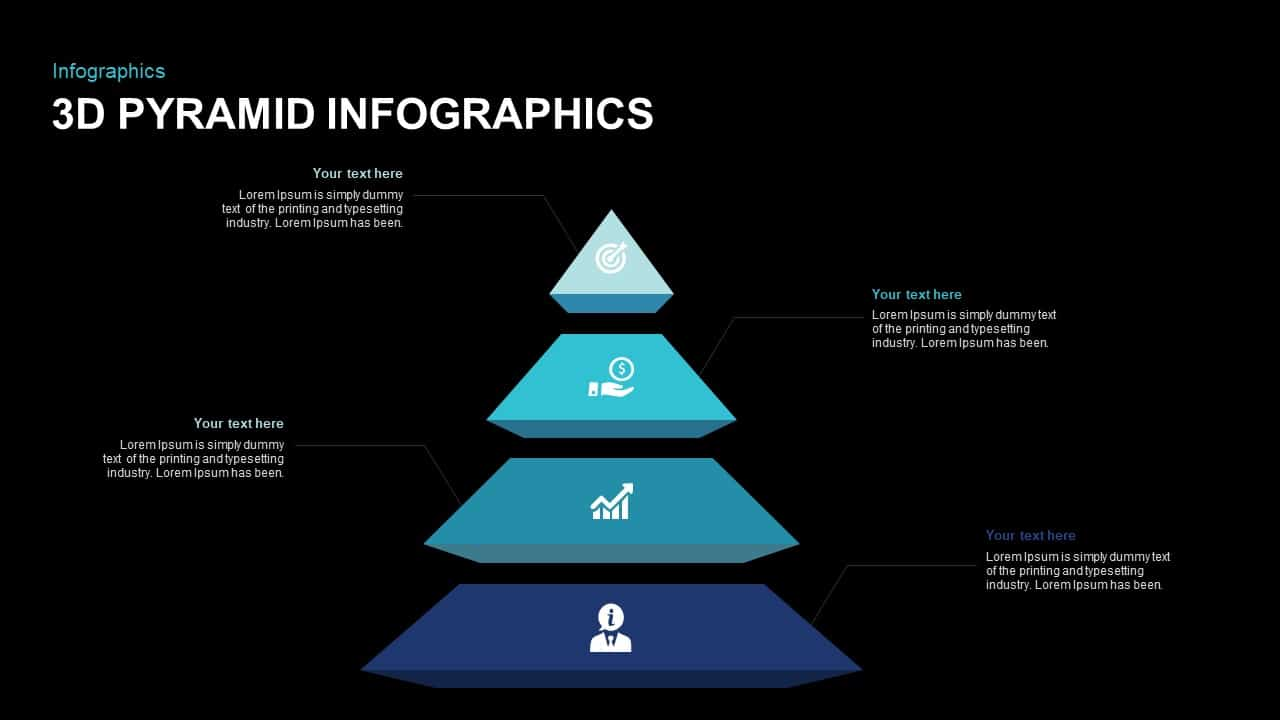 3D Pyramid Infographic PowerPoint Template