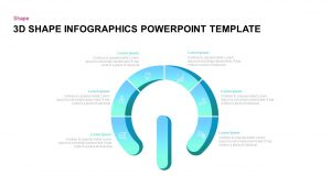 3D Keyhole Shape Infographic PowerPoint Template