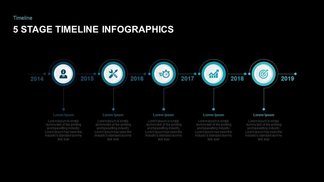5 Step Timeline Infographic PowerPoint Template
