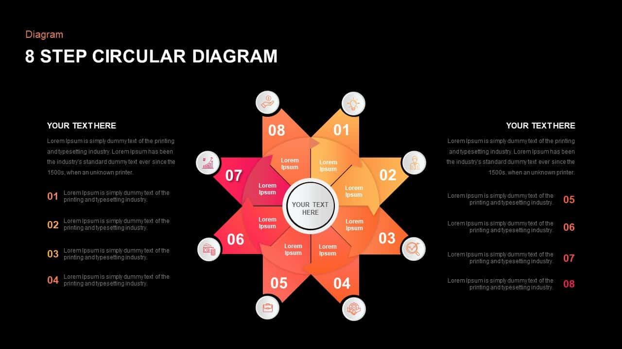 8 Step Circular Diagram PowerPoint Template