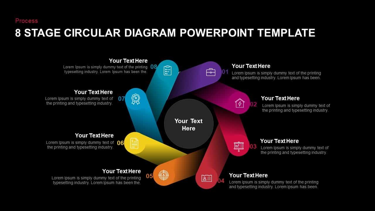 8 Step Circular Diagram PowerPoint Templates