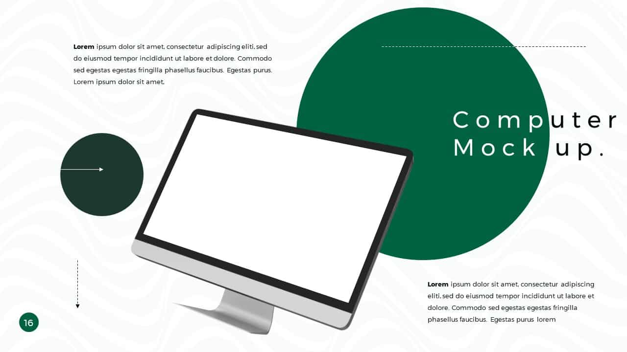 Business Presentation PowerPoint Template Computer