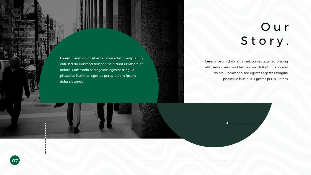 Business Presentation PowerPoint Template Our Story