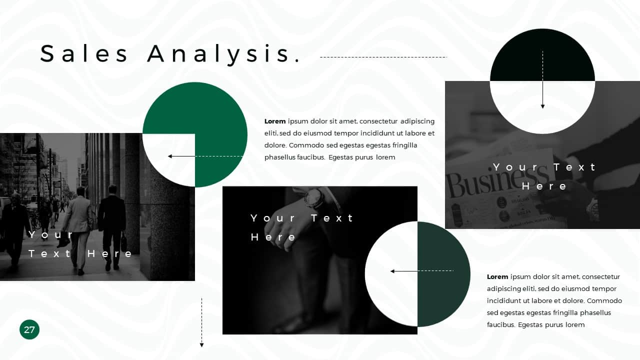 Business Presentation PowerPoint Template Sales Analysis