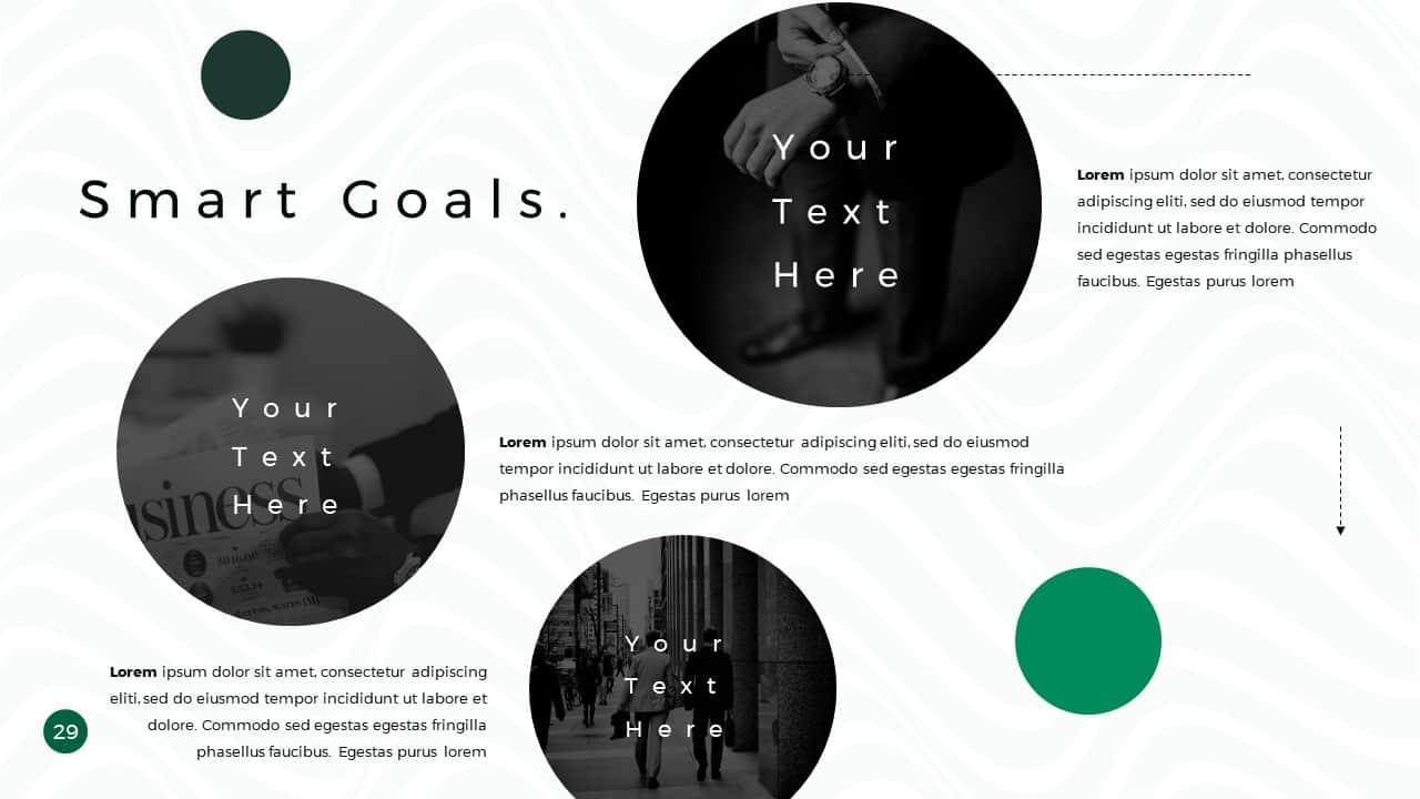 Business Presentation PowerPoint Template Smart Goals