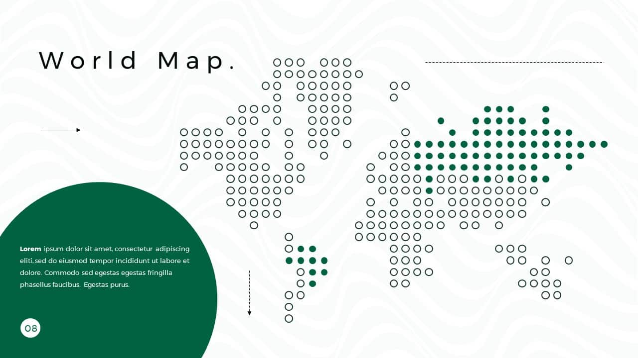 Business Presentation PowerPoint Template World Map