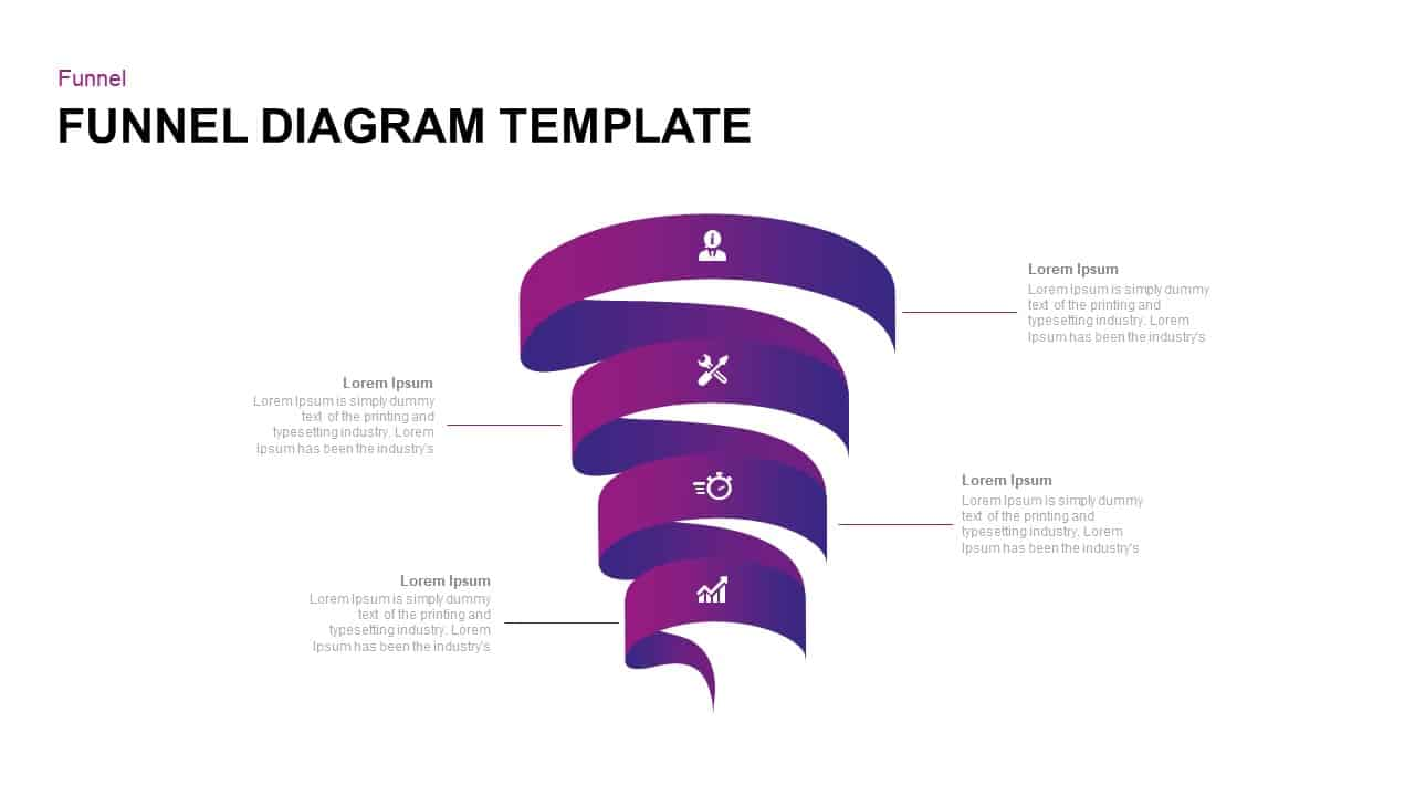 Funnel Diagram Template for PowerPoint