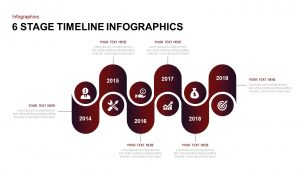 6 Stage Infographic Timeline Template for PowerPoint